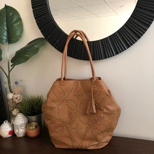 Isabella Fiore Leather Tote Bag
